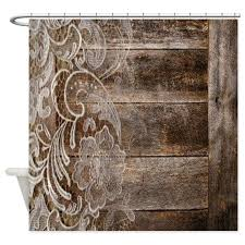 barn wood lace western country shower curtain by listing store