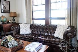 Tufted Brown Leather Sofa My Chesterfield Sofa Finding Silver Pennies