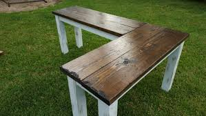 rustic l shaped desk farmhouse l shape desk