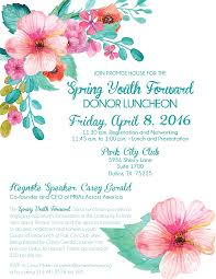luncheon invitation youth forward luncheon promise house