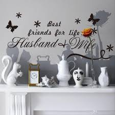 best friends for life husband wife quotes wall decals black color black package wall sticker plus transfer film style classical art lettering stickers usage cor decals murals for