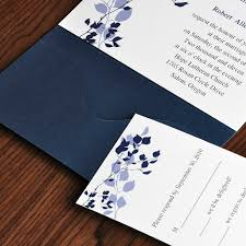 country style wedding invitations country rustic style floral and navy blue pocket inexpensive