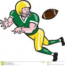 american football wide receiver catch ball cartoon 37607401 jpg