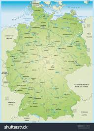 Map Of Germany And Austria by Map Germany Lakes Rivers Stock Vector 197173979 Shutterstock