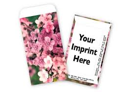 forget me not seed packets pink forget me not business card size flower seed packets the