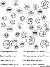 coin identification worksheet us coins enchanted learning