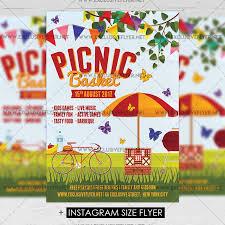 picnic basket u2013 premium a5 flyer template exclsiveflyer free