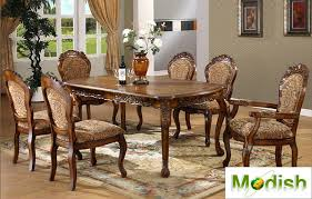 Carved Dining Table And Chairs Solid Wood Dining Room Table And Chairs Coco Dining Table Set With