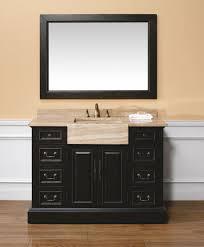 cream wall paint mirror with dark wooden frame cherry wooden