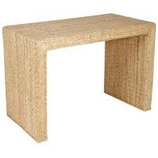Seagrass Furniture Woven Seagrass Console For Sale At 1stdibs