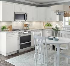 home depot custom kitchen cabinets cost cambridge base cabinets in white kitchen the home depot