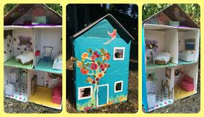 how to make a dollhouse from a shoebox using recycled materials
