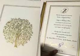 wedding card blessings photo zaheer khan and sagarika ghatge s wedding card is out