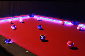 this is how the pool tables will look like with neon light making