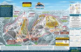 Mt Washington Map by Mt Baker Ski Area Trail Map