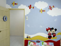 Decoration Wall Art Painting With BambooWall Design For Living - Childrens bedroom wall painting ideas