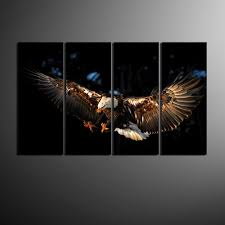 amazon com piy eagle canvas wall art paintings for living room