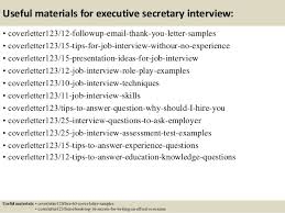 top 5 executive secretary cover letter samples