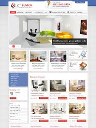 zt para joomla shopping cart template for furniture store home