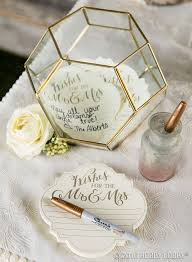 wedding guest book use a terrarium to add instant style to your guest book table