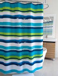 Kate Spade Striped Shower Curtain Splash Home Blue Green Oblique Stripe Shower Curtain Bedbathhome