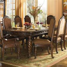 Upholstered Arm Chair Dining Millennium North Shore Rectangular Extension Table And Dining Arm