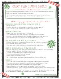 how to keep your house clean free holiday speed cleaning printable checklist love this
