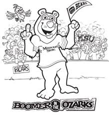 boomer bear coloring pages alumni association missouri state