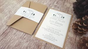 handmade wedding invitations pocketfold invitations mountain