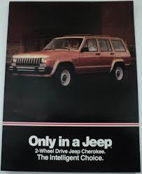 jeep 2wd cherokee comparison to chevy s10 blazer dealer sales brochure