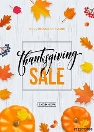 thanksgiving sale web banner or big seasonal promo offer discount