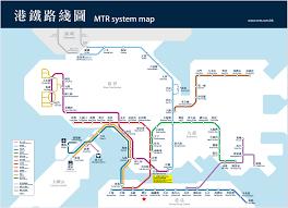 mtr map all things hong kong the mtr