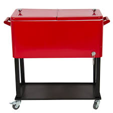 Outdoor Bbq Furniture by Furniture Red And White Patio Cooler Cart With Bottom Storage For