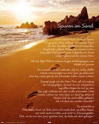 trostsprüche spuren im sand poster hier klicken für die beste wiedergabe