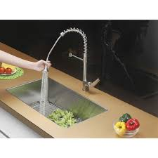ruvati rvf1216st commercial style pullout spray kitchen faucet