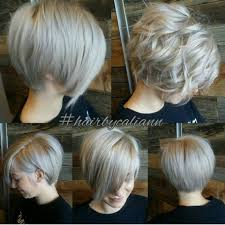 ooh love this ashy platinum grey longer pixie looks great