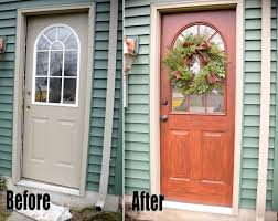 thrifty transformation how to paint a door to look like wood