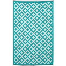 outdoor rug recycled plastic marina sea green u0026 white u2013 floorsome