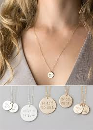 disc necklace custom coordinates disc necklace latitude longitude circle