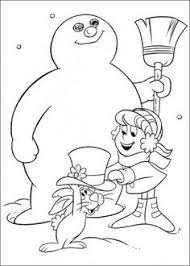 created chilly selection frosty snowman printable