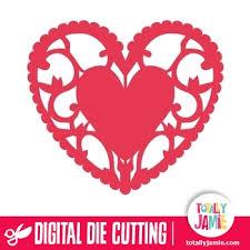 heart doily heart flourish doily totallyjamie svg cut files graphic sets