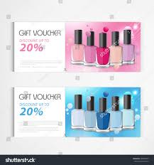 gift voucher nail polish bottle drop stock vector 428563747