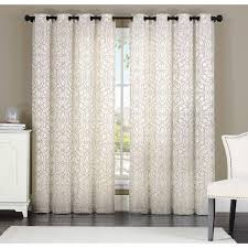 Jacquard Curtain Keegan 8 Grommet Jacquard Curtain Panel Free Shipping On Orders