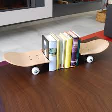 Skateboard Shelf These Lovely Skateboard Bookends Keep Your Favorite Skate Magazine