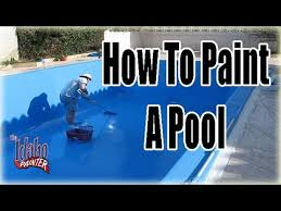how to paint a pool painting pools with chlorinated rubber pool