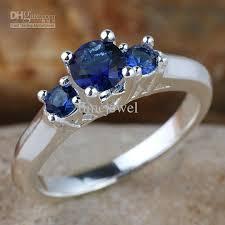 sapphire wedding ring silver ring sz 7 wed j7726 lab blue sapphire wedding band