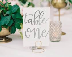 silver wedding table numbers silver table numbers etsy