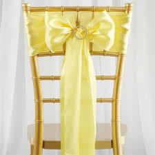 chair sashes 5 pcs yellow satin chair sashes tie bows catering wedding party