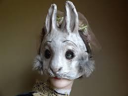 paper mache bunnies paper animal masks paper mache rabbit mask hare mask