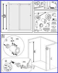shower sliding door hardware